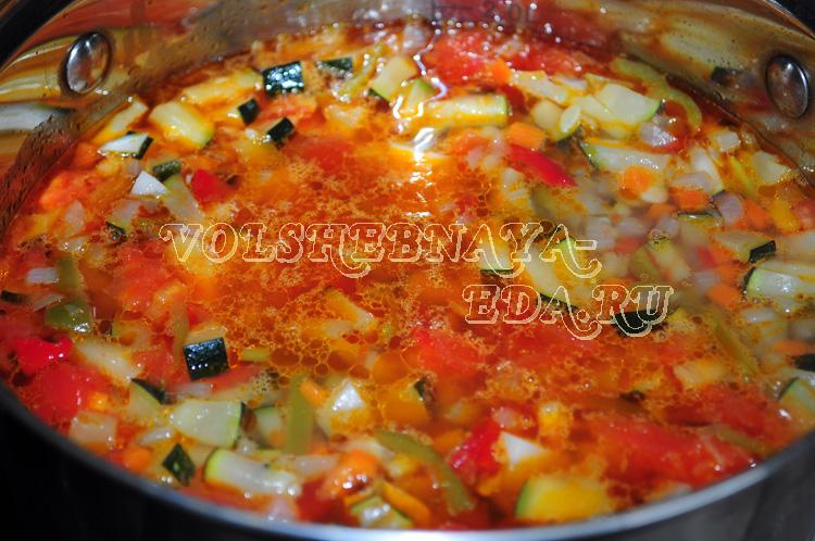 Сытный овощной минестроне с перловкой и фрикадельками, пошаговый рецепт с фото