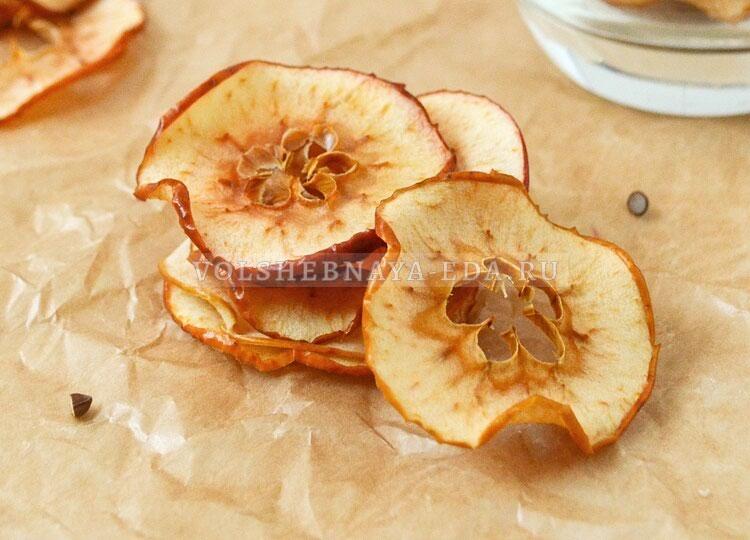 Яблочные чипсы рецепт с фото
