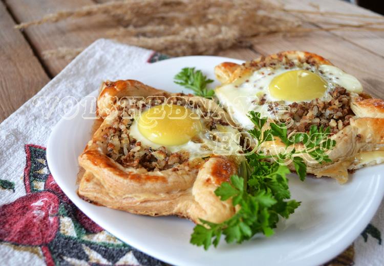 Открытые пирожки с мясом и рисом рецепт с фото
