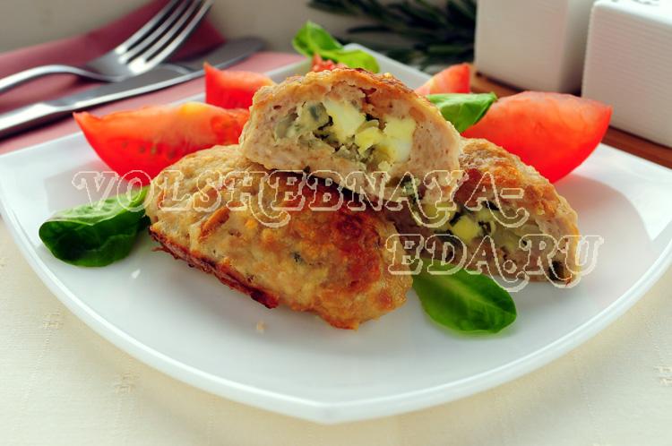 Зразы мясные с яйцом рецепт с фото