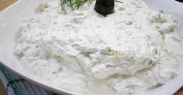 Греческий соус дзадзики
