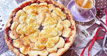 Песочный пирог с вареньем рецепт с фото