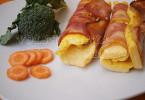 Омлет с беконом рецепт с фото