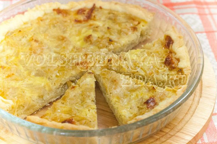 Луковый пирог рецепт с фото