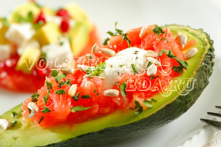 Вкусные салаты с авокадо