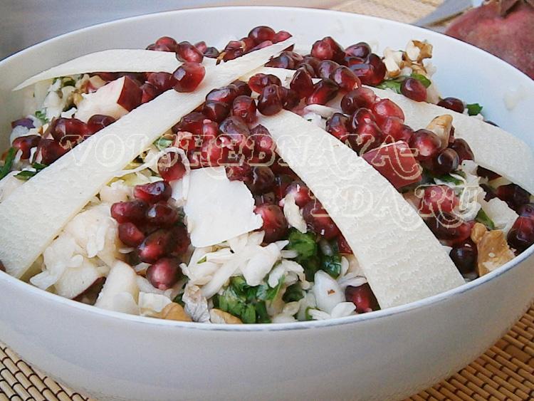 Салат из капусты, яблока и грецких орехов рецепт с фото
