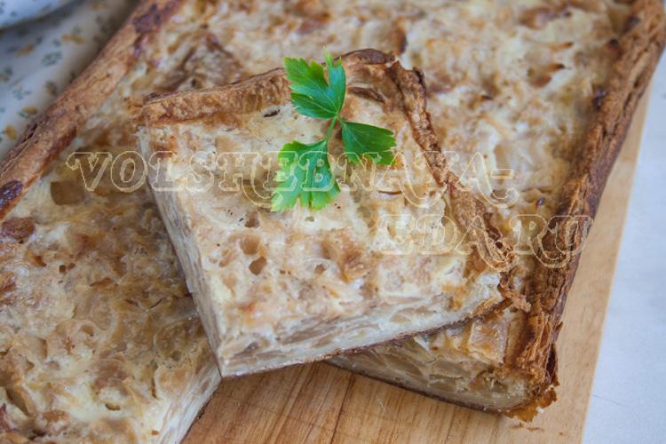 Пирог с капустой рецепт с сыром