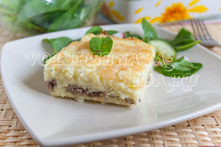 Картофельная запеканка с мясом рецепт с фото