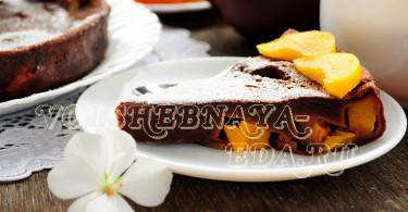Шоколадный клафути в мультиварке
