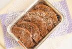 Шоколадный хлебный пудинг