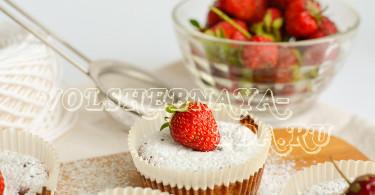 Клубничные маффины рецепт с фото