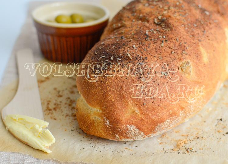 Хлеб с оливками рецепт с фото