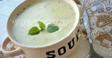 Суп-пюре из кабачков рецепт с фото