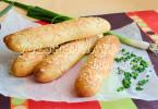 Закусочные багеты с сыром. Сырное тесто