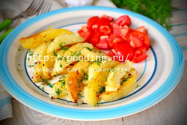 Жареная картошка в мультиварке