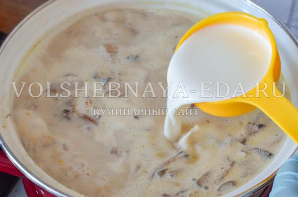 gribnoj sup s syrom i slivkami 11