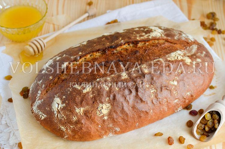 Медовый хлеб с изюмом