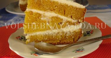 Торт с тыквой в мультиварке