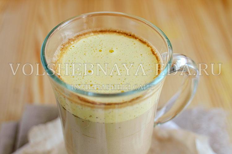 кофе капучино с добавление желтка