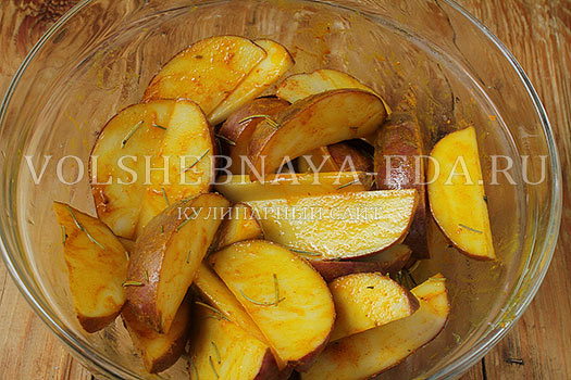 Бургер с картофелем по-деревенски и горчичным соусом, пошаговый рецепт с фото