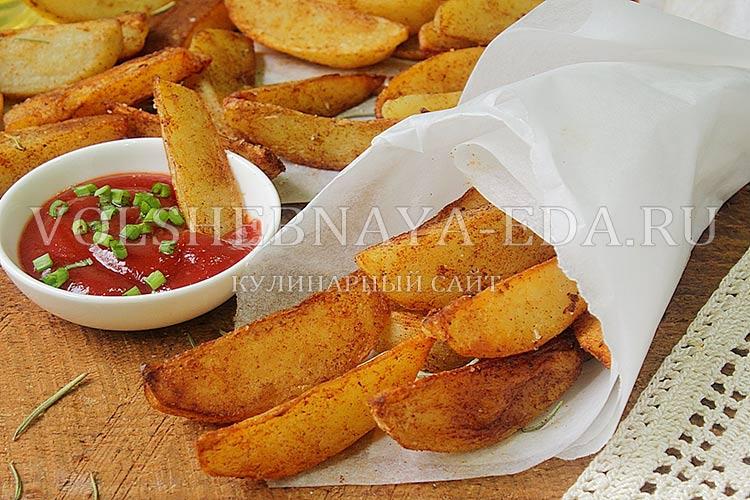 запеченная в духовке картошка по-деревенски