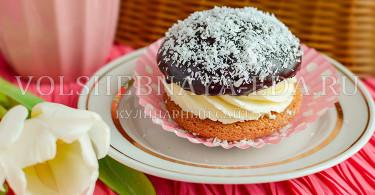 пирожное буше с творожно-сливочным кремом