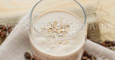 рецепт утреннего смузи с кофе и овсянкой