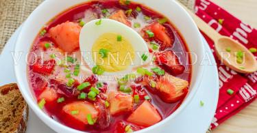 суп из печеной свеклы