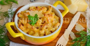 рецепт макарон с сыром
