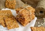 рецепт крекеров из муки из злаков
