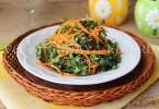 весенний салат из крапивы и листьев одуванчика