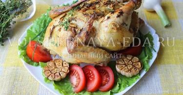рецепт курица целиком запеченная в духовке