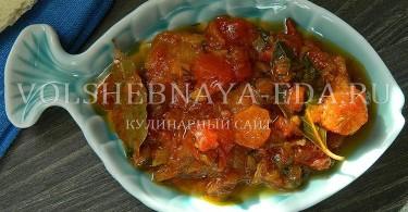 рецепт рыба в томате