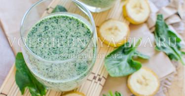 рецепт смузи со шпинатом
