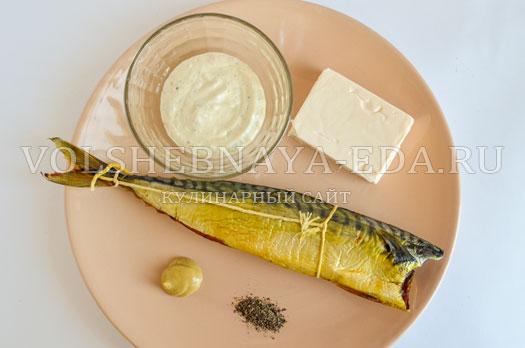Паштет из скумбрии и феты – кулинарный рецепт