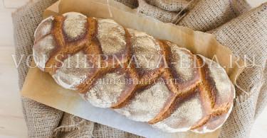 Хлеб-коса на ржаной закваске