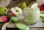 Смузи яблоко-груша-кабачок
