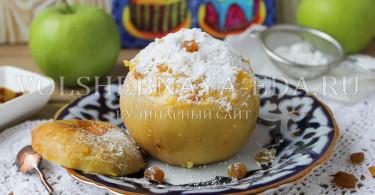 Яблоки, запеченные с рисом и изюмом