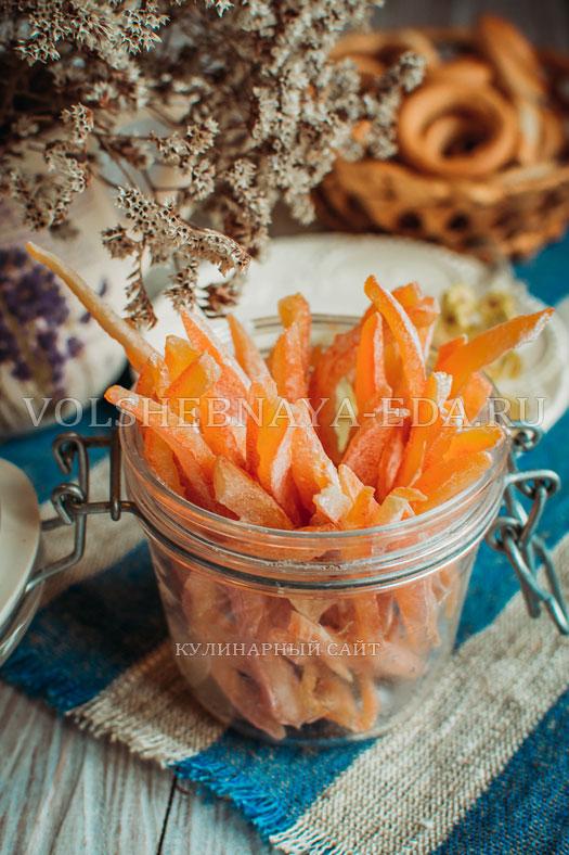 Цукаты из дынных корок, пошаговый рецепт с фото