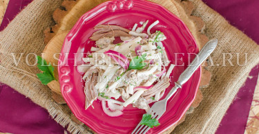 Салат из баранины и редьки