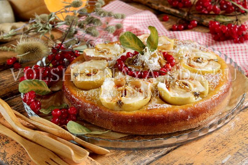 Яблочно-тыквенный пирог