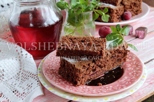 Брауни с вишней - рецепт с фото