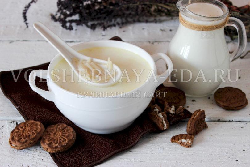 Молочный суп с вермишелью