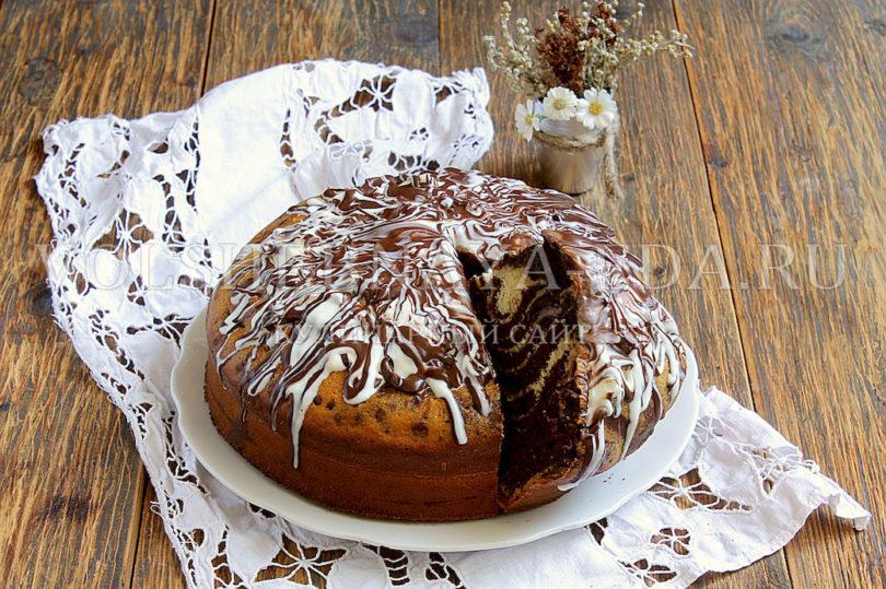 Пирог Зебра на кефире