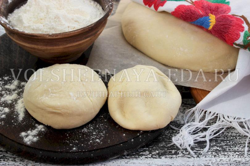 Заварное безопарное дрожжевое тесто для пирожков