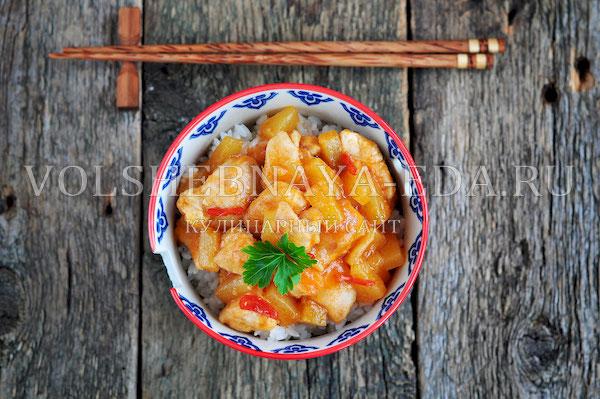kurica po kitajski v kislo sladkom souse 10