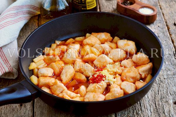 kurica po kitajski v kislo sladkom souse 6