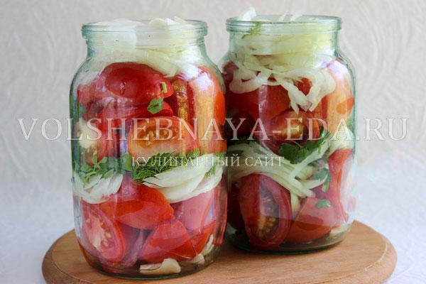 Салат по польски из помидор