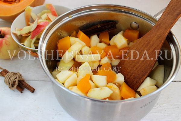 varenje iz tykvy s yablokami 3
