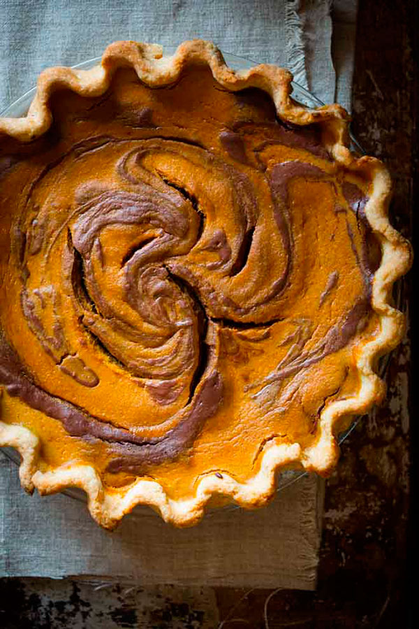 chocolate pumpkin pie 1